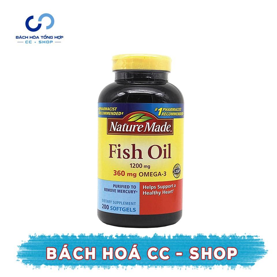 DATE 08.2019 Dầu cá Nature Made Fish Oil 1200 mg 360 mg 200 viên