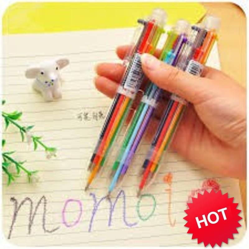 [CỰC RẺ]  Bút Bi 6 Màu Tiện Dụng