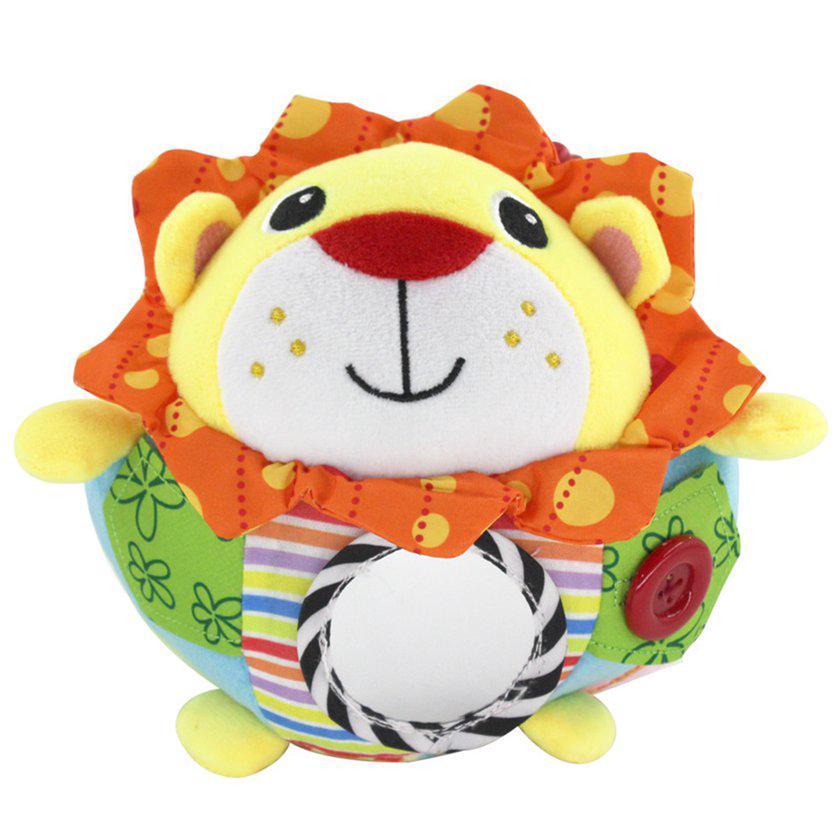 【Kiss】Baby Cartoon Plush Ball Toys Owl Lion Soft Rattle Bell Hand Grasp Ball