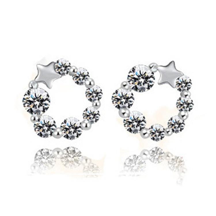 Hoa tai đính thời trang nữ bạc 925 cực xinh giá rẻ