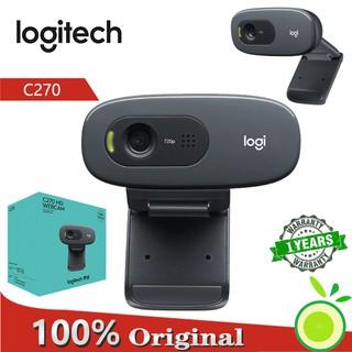 Webcam C270 độ phân giải HD 720P kết nối cổng Micro USB2.0 hiệu Logitech cho máy tính