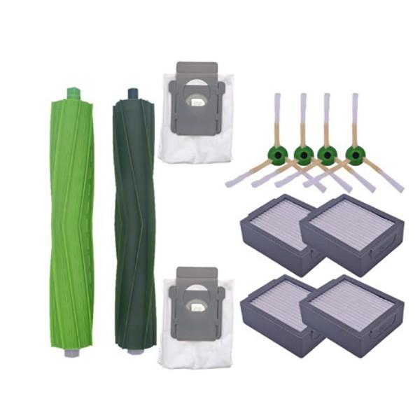Filter Side Dust Bag Round Brush Kit for Irobot Roomba I7 E5 E6