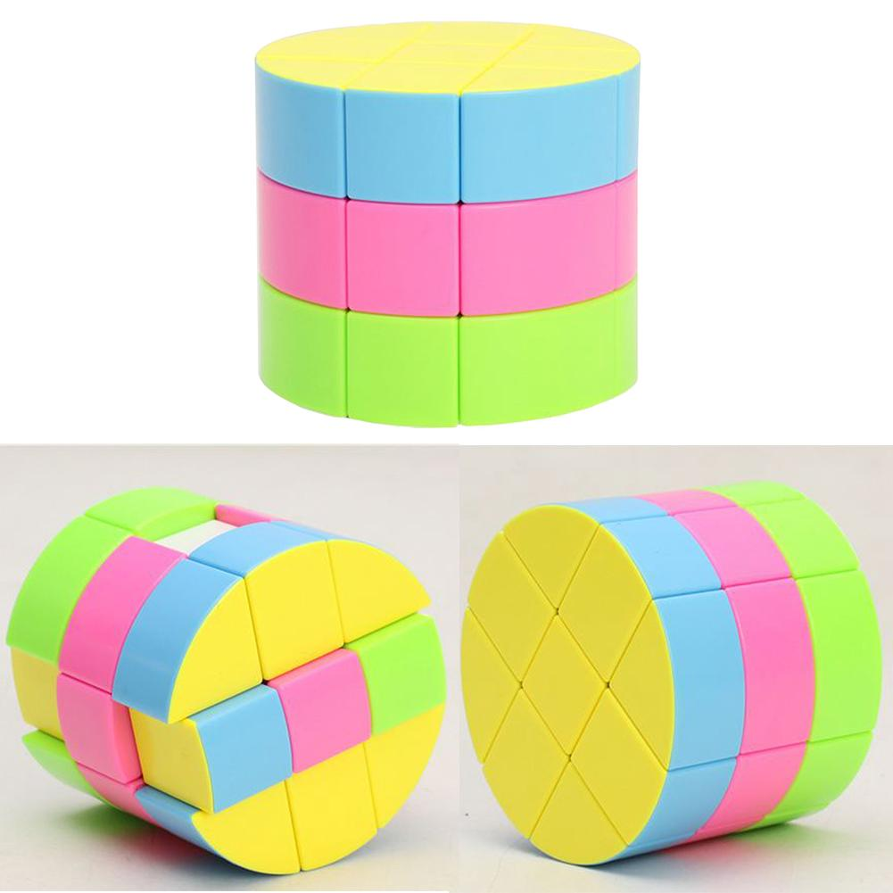 3×3 Cylinder Magic Cube Speed Game Toy Colorful