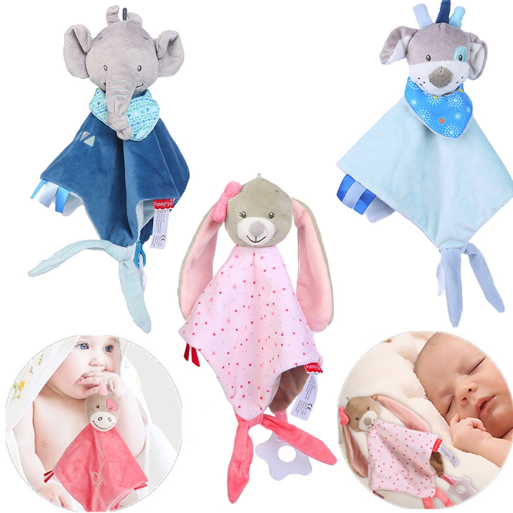 【COD】Soft Baby Teddy Bear Puppet Toy Gift Snuggle Baby Comforter Blanket