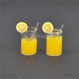 moon.vn Set 2 ly nước chanh mini trang trí cho nhà búp bê 1:12 KS ☀$
