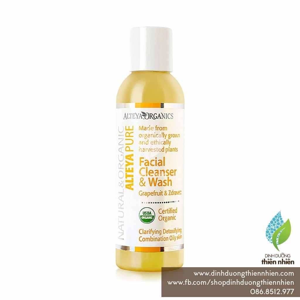 Sữa Rửa Mặt Cây Bưởi Chùm & Hoa Zdravetz Hữu Cơ Alteya Organics Facial Cleanser & Wash, Grapefruit &