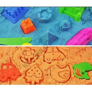 Free Ship_Combo 1 Bộ khuôn cát động lực +1 kg cát (tổng 2kg cát) an toàn cho bé sỉ lẻ số 1