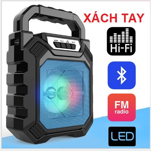 Loa xách tay Bluetooth Nghe Nhạc D668 Siêu Hay, Có Led Đổi Màu - FM