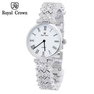 Đồng hồ nữ chính hãng Royal Crown 2601 dây đá vỏ trắng thumbnail
