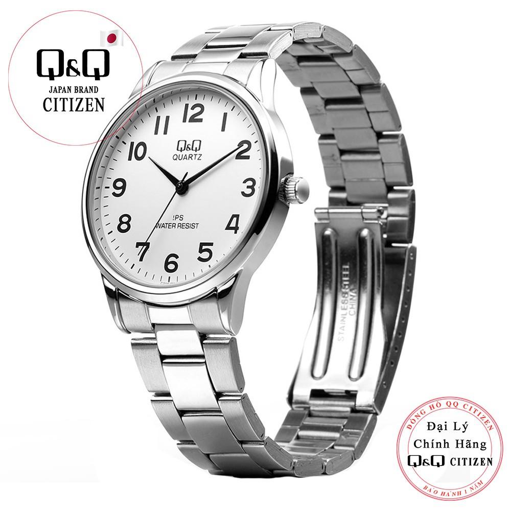 Đồng hồ nam Q&Q Citizen C214J204Y dây sắt thương hiệu Nhật Bản
