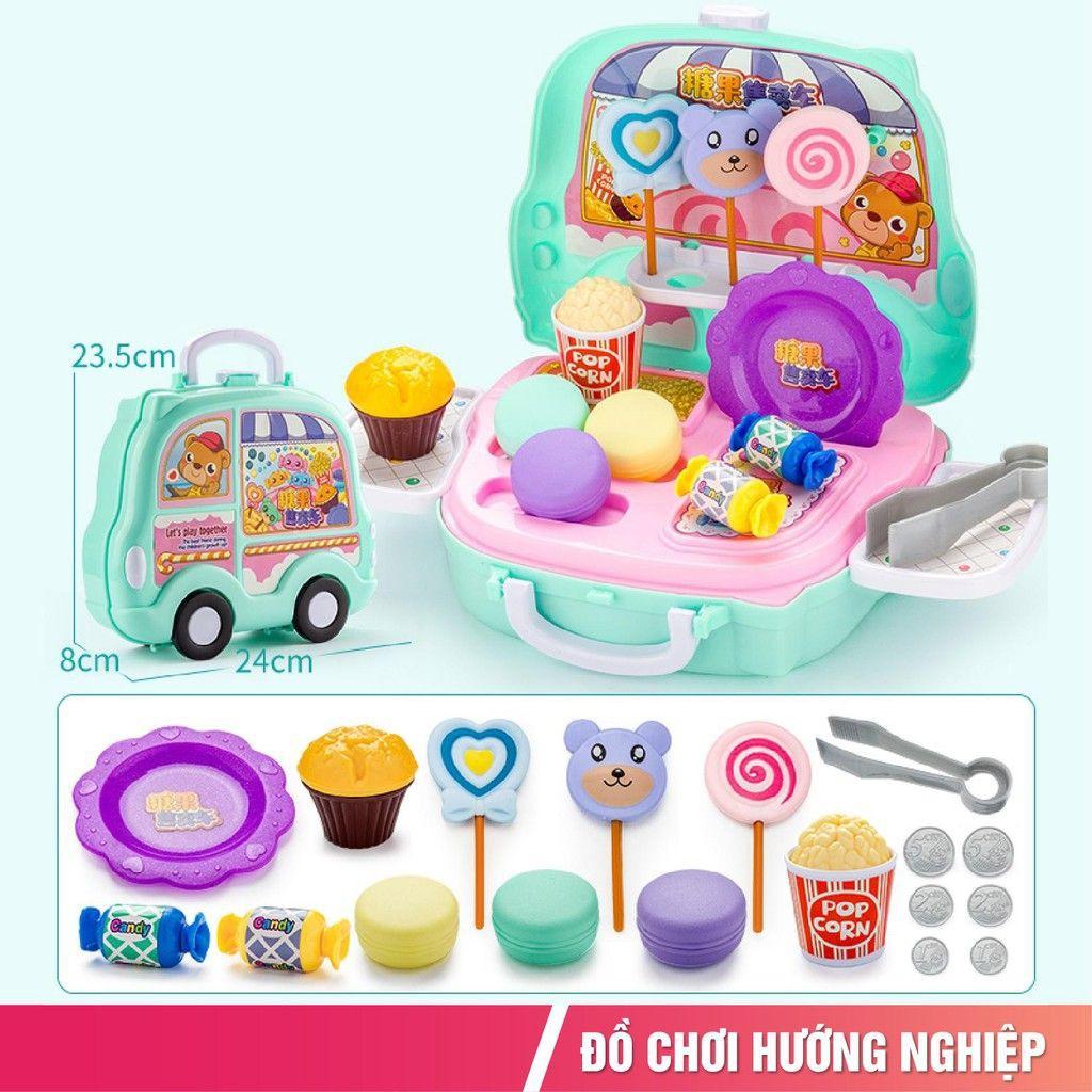 Bộ đồ chơi nấu ăn đồ chơi bán hàng bánh kẹo humberger cho bé trải nghiệm sáng tạo