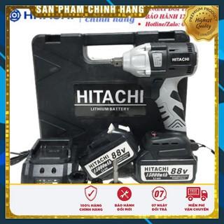 Máy siết bulong Hitachi 88V 2 pin 15000mAh, không chổi than, đầu 2 trong 1 – KÈM PHỤ BỘ PHỤ KIỆN – Chính hãng