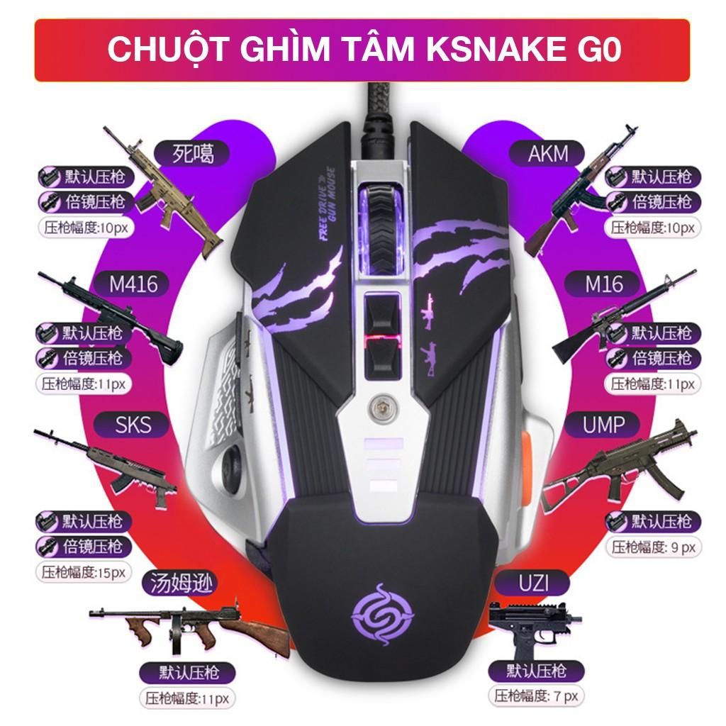 KSNAKE G0   Chuột gaming ghìm tâm dành cho game FPS (PUBG, COD)