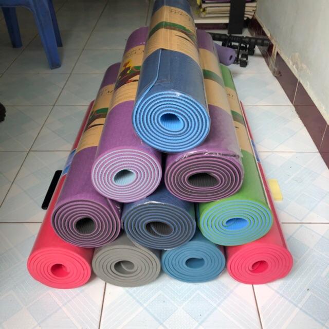 Thảm Tập Thể Dục FREESHIPThảm Yoga 2 Lớp TẶNG TÚI ĐỰNG [GIAO NHANH 2H]