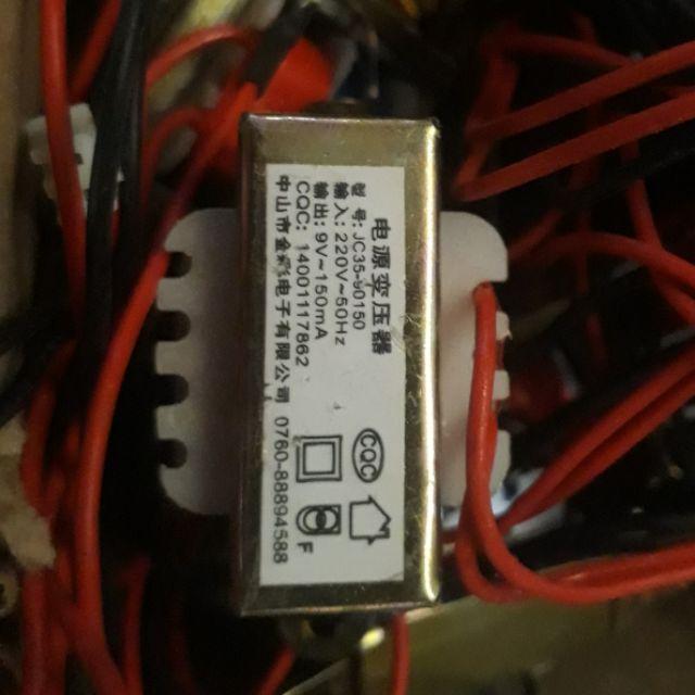 Biến áp 220v ra 9v. Dùng làm nguồn nuôi máy hàn cell pin