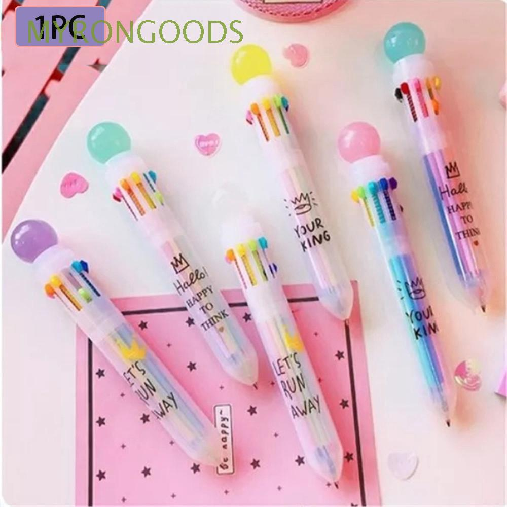 1PC Creative Cute Multifunction Candy Color Transparent Ballpoint Pen