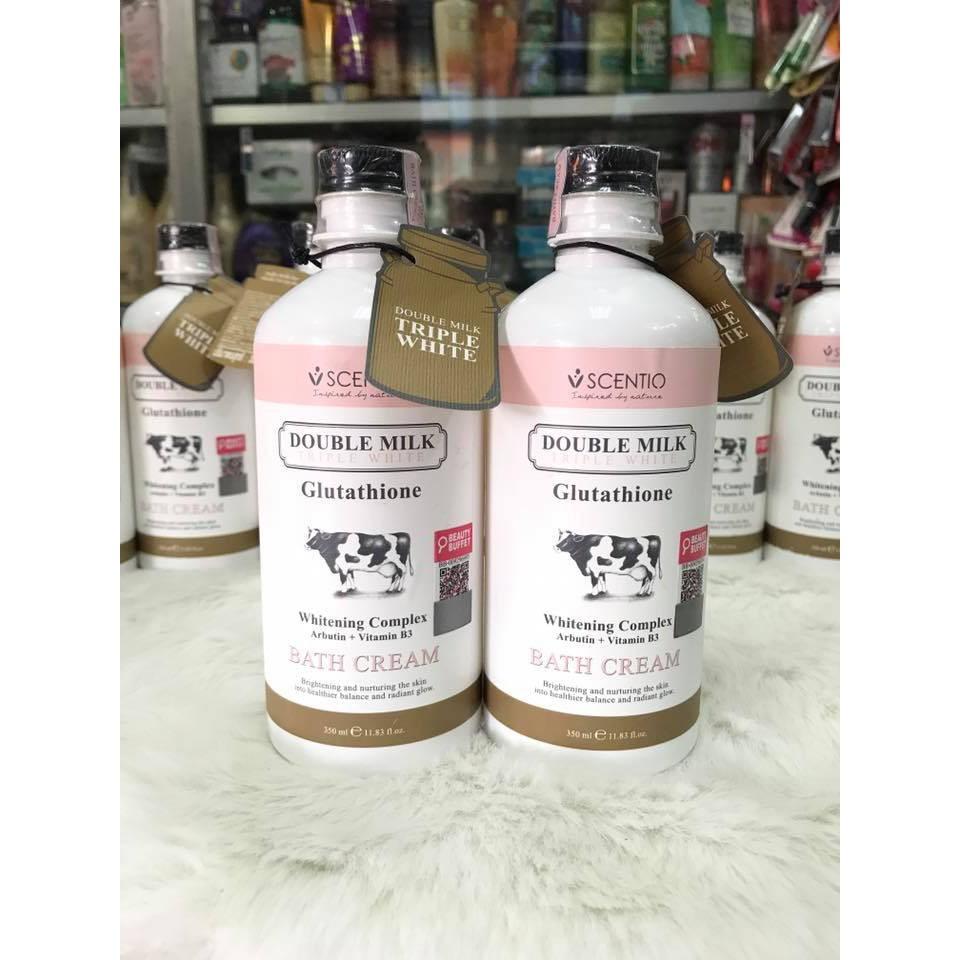 Sữa Tắm Trắng Da Scentio Double Milk Triple White Bath Cream 350ml