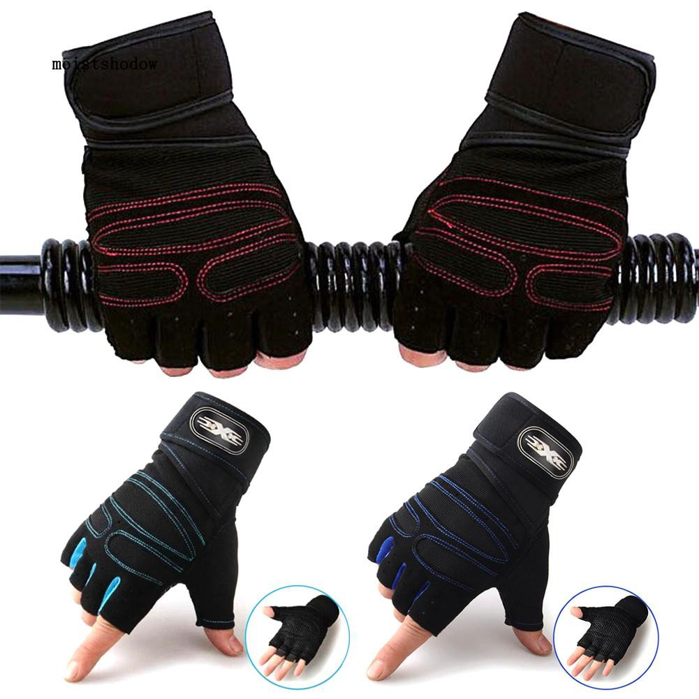 MISD 1 Pair Fitness Training Weightlifting Anti-slip Half Finger Protection Gloves