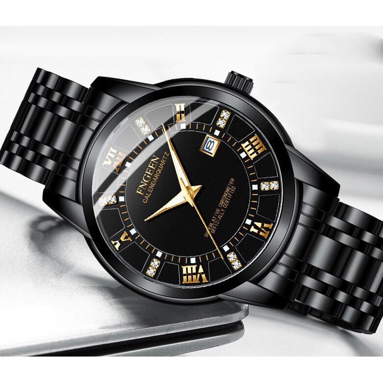 Đồng hồ nam FNGEEN F2C Chính Hãng dây thép cao cấp không rỉ