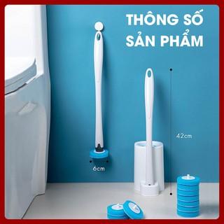 Cây chổi cọ vệ sinh thông minh dụng cụ cọ rửa nhà tắm toilet khử khuẩn dùng 1 lần PT-CVS1L