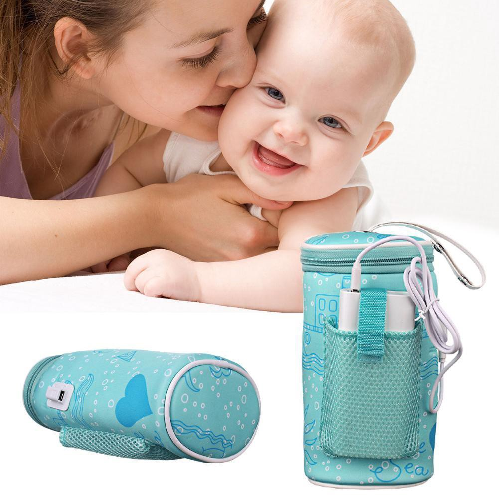 Portable Outdoor Car Travel Baby Milk Bottle USB Heating Cover Warmer Heater U11