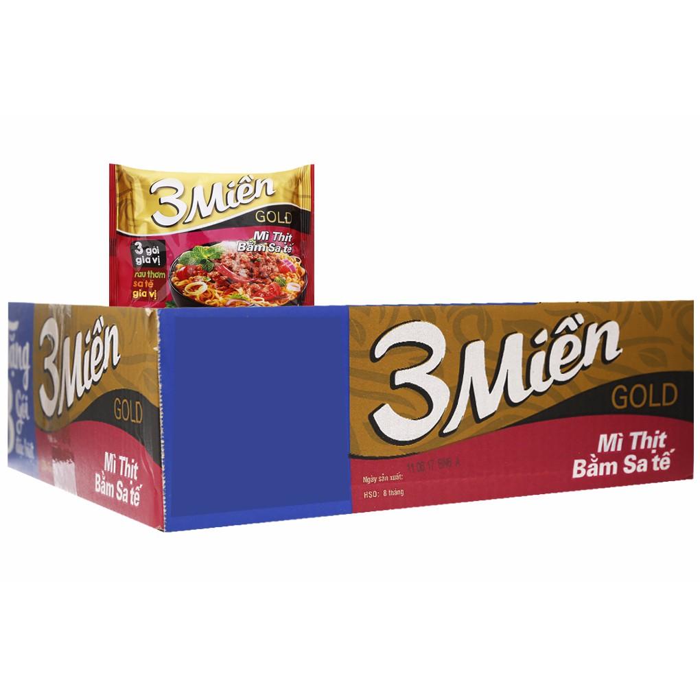 Thùng mì thịt bằm sa tế 3 Miền Gold Ăn liền gói 75g (33 gói) - 10008255 , 507459178 , 322_507459178 , 88000 , Thung-mi-thit-bam-sa-te-3-Mien-Gold-An-lien-goi-75g-33-goi-322_507459178 , shopee.vn , Thùng mì thịt bằm sa tế 3 Miền Gold Ăn liền gói 75g (33 gói)