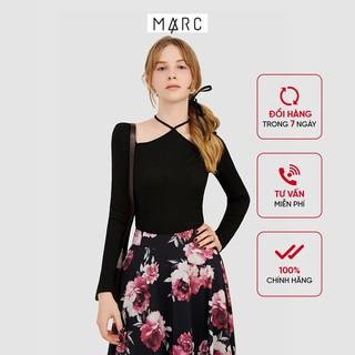 Áo thun nữ MARC FASHION gân tay dài cổ yếm thumbnail