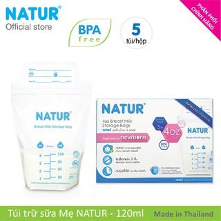 Hộp túi trữ sữa Natur 5 cái hộp dung tích 120ml