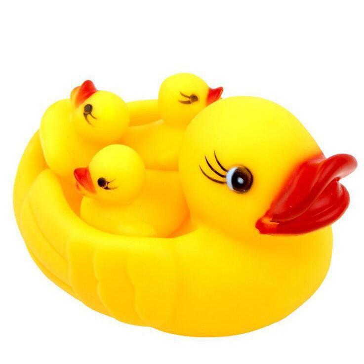 BÁN CHẠY [ SIÊU RẺ ]🐤Vịt Thả Hồ Bơi🐤 Set 4 Vịt Mẹ Và Vịt Con Thả Hồ Bơi Cho Bé HÀNG LOẠI 1