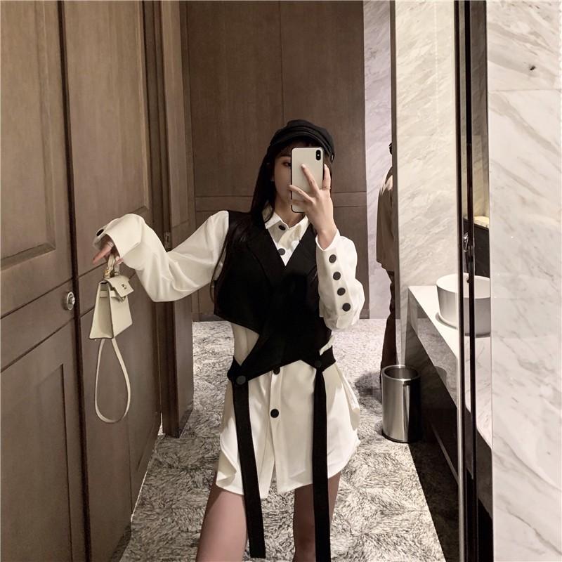 áo sơ mi nữ dài tay cổ bẻ thời trang hàn - 22036944 , 6302224919 , 322_6302224919 , 272800 , ao-so-mi-nu-dai-tay-co-be-thoi-trang-han-322_6302224919 , shopee.vn , áo sơ mi nữ dài tay cổ bẻ thời trang hàn