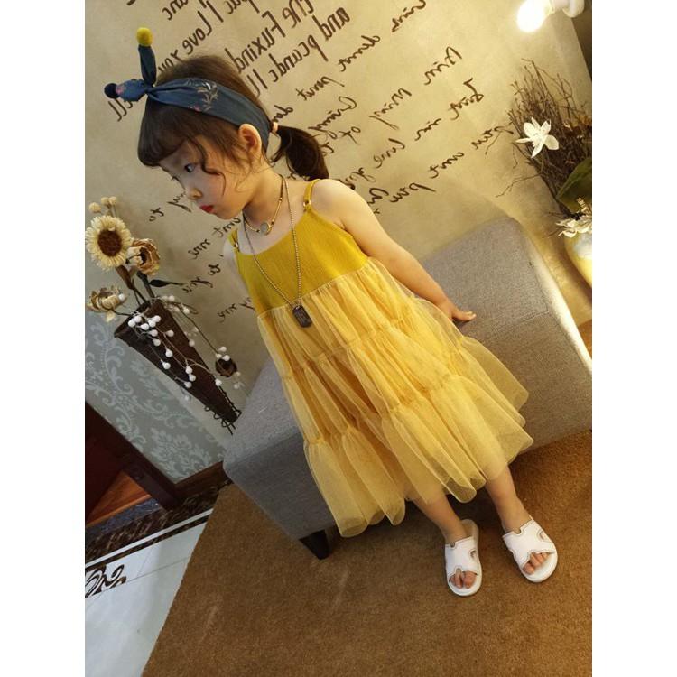 váy vàng 2 dây
