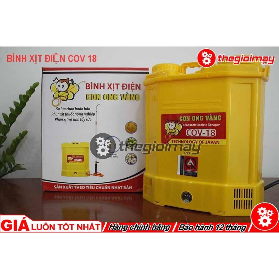 Bình Xịt Điện Con Ong Vàng COV 18D - 22089686 , 2660997570 , 322_2660997570 , 900000 , Binh-Xit-Dien-Con-Ong-Vang-COV-18D-322_2660997570 , shopee.vn , Bình Xịt Điện Con Ong Vàng COV 18D