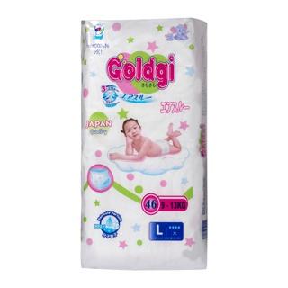 Tã dán/ quần Goldgi Nhật size NB/ s62/m58/l46/xl42/ s82/m64/l54