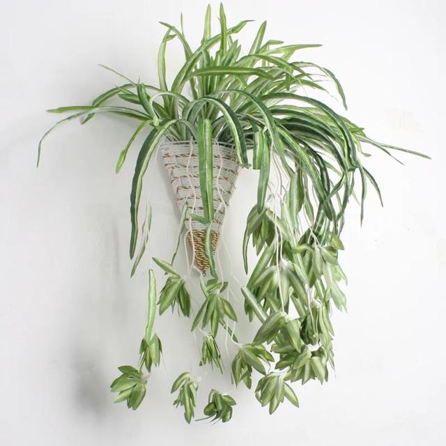Cây nhựa PVC - cây lan chi hoa rủ (không kèm giỏ)