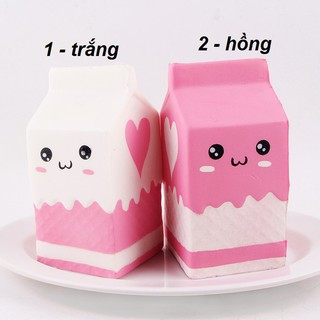 Squishy hộp sữa dâu siêu yêu JK15