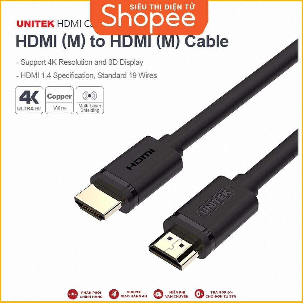 [Hàng Có Sẵn] Sản phẩm Cáp HDMI 3m Unitek YC 139