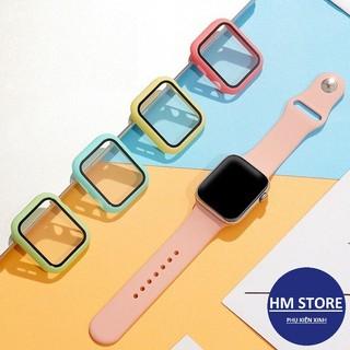 Ốp lưng màu cho Apple Watch kèm kính cường lực, bảo vệ toàn diện cho Apple Watch của bạn