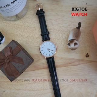 ( Tặng hôp+pin) Đồng hồ DD&W nam nữ dây da D8732 sang trọng lịch lãm