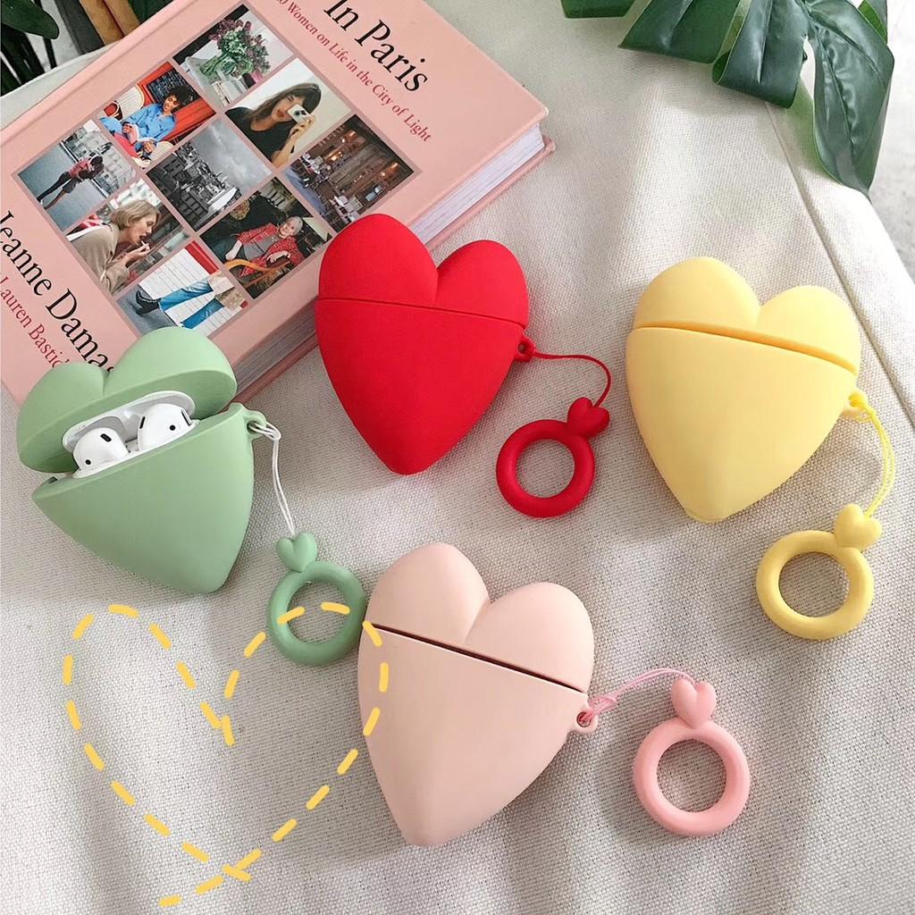 Vỏ bảo vệ hộp đựng tai nghe airpods hình trái tim xinh xắn - 15449133 , 2485286848 , 322_2485286848 , 110900 , Vo-bao-ve-hop-dung-tai-nghe-airpods-hinh-trai-tim-xinh-xan-322_2485286848 , shopee.vn , Vỏ bảo vệ hộp đựng tai nghe airpods hình trái tim xinh xắn