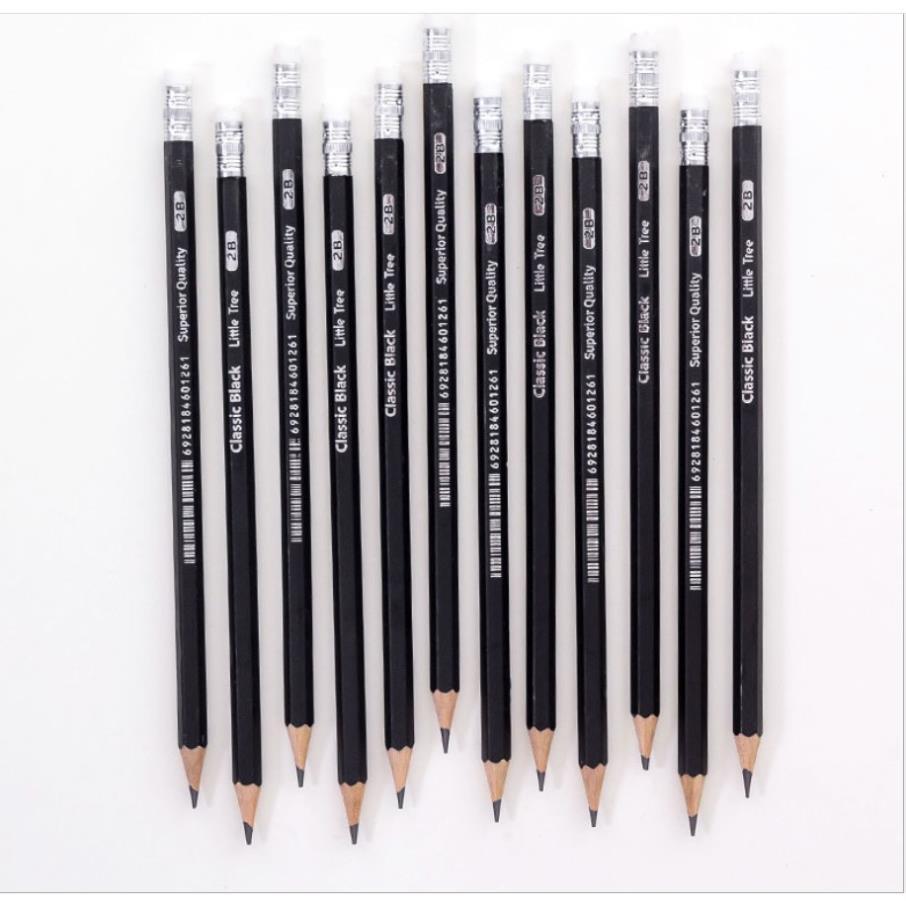 HỘP 12 CHIẾC] Hộp bút chì 2B cao cấp - Bút chì 2B cho học sinh sinh  viên_bút chì bé tập viết giá cạnh tranh