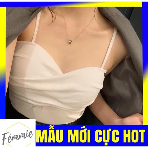 ÁO HOTGIRL GIÁ RẺ, Freeship - Áo croptop 2 dây nhỏ ngắn ôm chéo ngực trắng, sọc đỏ - Thời trang hotgirl thiết kế cao cấp