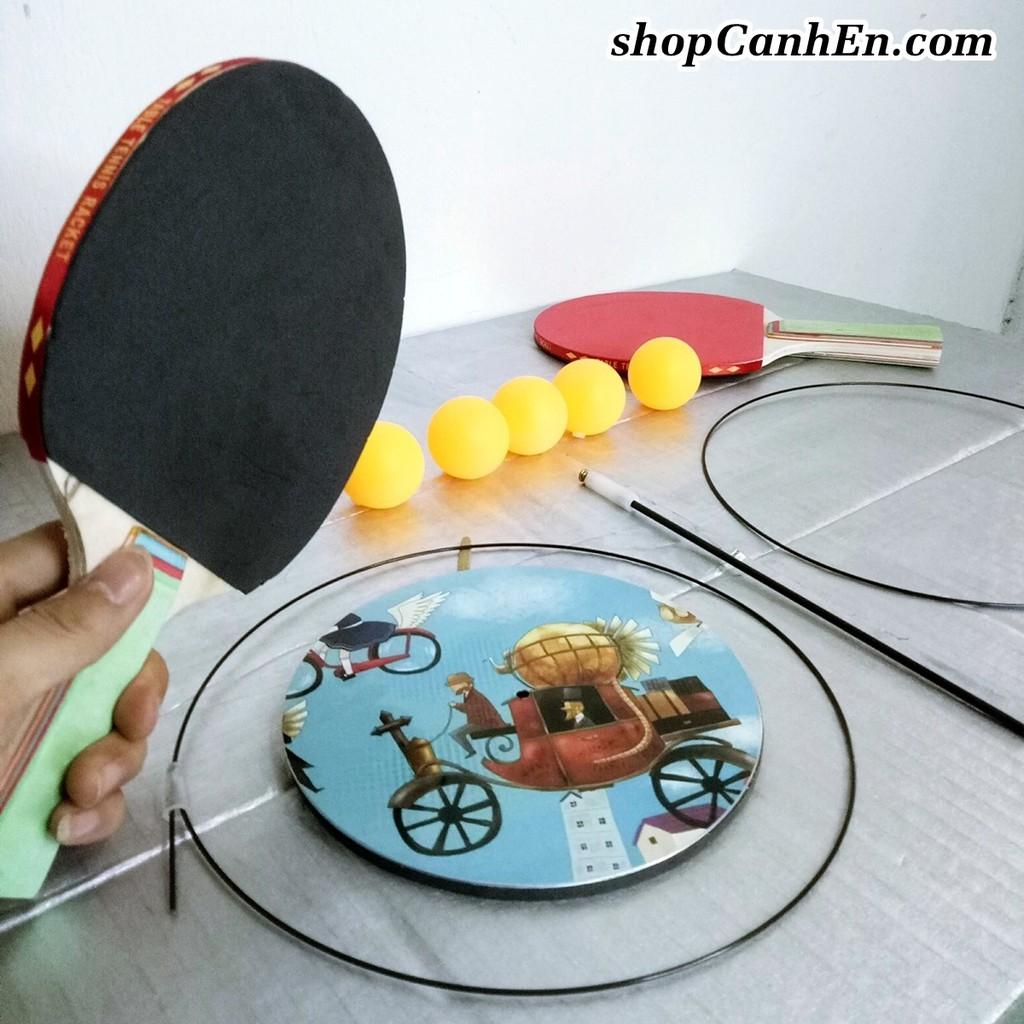 Bộ bóng bàn phản xạ cho trẻ em Đế sắt loại 1 ĐẶT ĐÂU CŨNG ĐƯỢC Vợt gỗ Cao cấp – Đồ chơi trẻ em thông minh