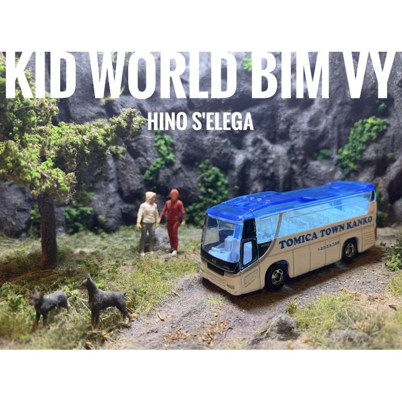 Xe mô hình Tomica Bus Hino S'Elega. MS: 104. Tỷ lệ 1:156.