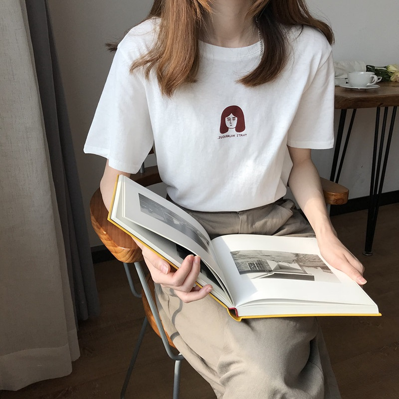 Áo Thun Nữ Tay Ngắn In Hình Thời Trang Hàn Quốc 2310