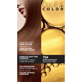 [VÀNG ĐỎ ÁNH ĐỒNG] Kem nhuộm dưỡng tóc không Amoniac Olea Color ITALY MÀU 734 GOLDEN COPPER BLONDE 135ml Nhập khẩu Ý HS thumbnail