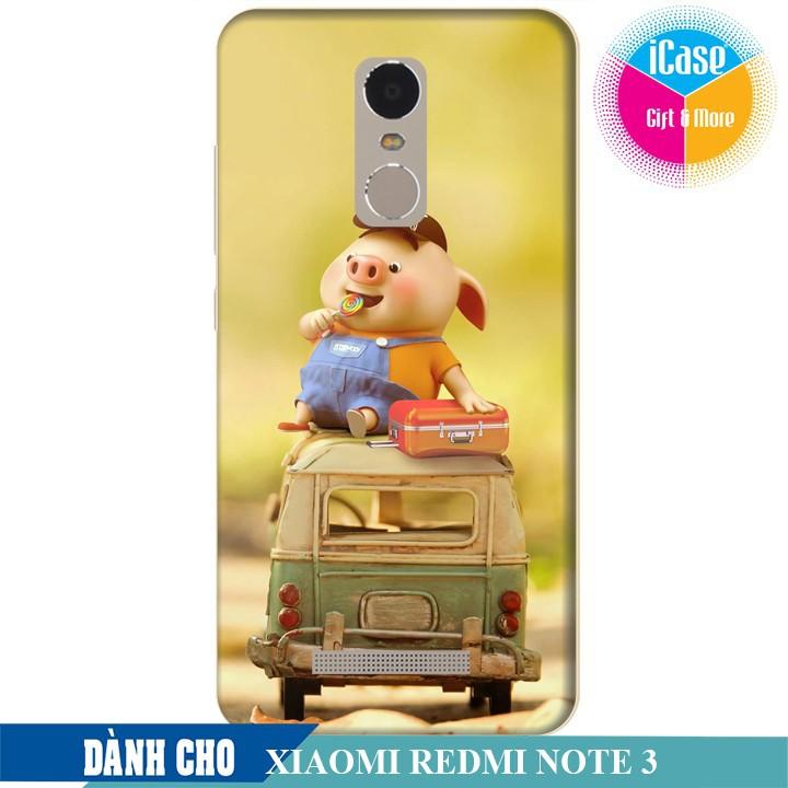 Ốp lưng nhựa dẻo dành cho Xiaomi Redmi Note 3 in hình Heo Keọ Ngọt