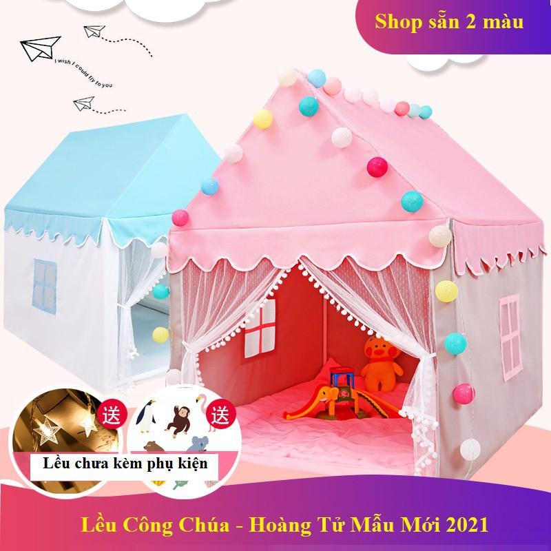 Lều Công Chúa Hoàng Tử – Lều Cho Bé Ngủ Chơi 2 màu xanh hồng