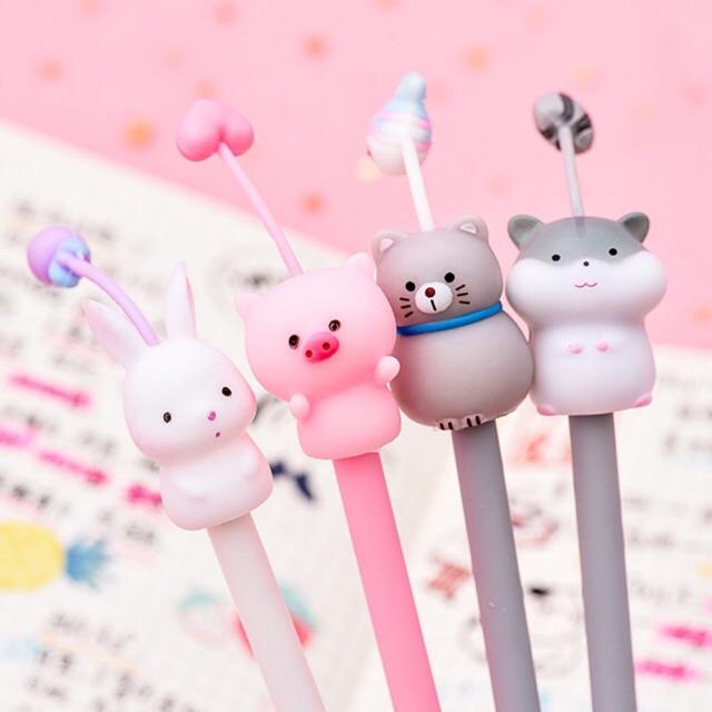 Bút bi nước heo thỏ có ăngten