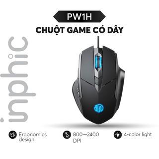 Chuột Chơi Game INPHIC PW1H Chuột Văn Phòng Có Dây Phiên bản 6 phím Độ Phân Giải 1200DPI - Chính Hãng thumbnail