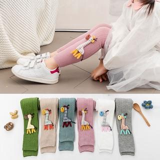 1-9Yrs Girl Soft Legging Cute Cartoon Giraffe Dolls Long Stocking Baby Tights Kids Girls Cotton Leggings